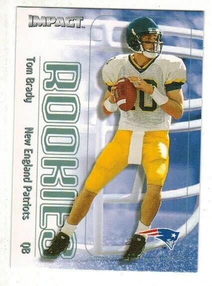 2000 Skybox Impact Tom Brady rookie
