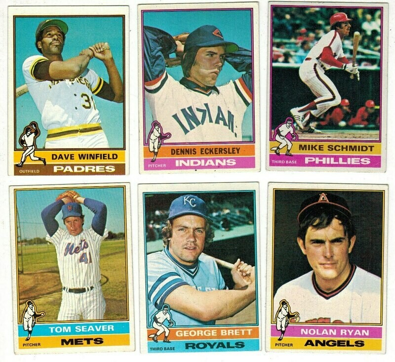1976 Topps Baseball Complete Set Ex/Mint or better