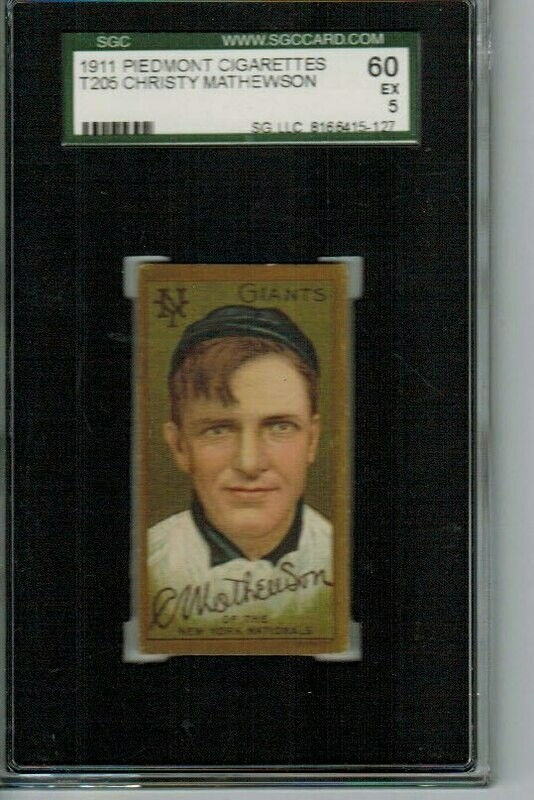 1911 T205 Christy Mathewson Graded SGC 5
