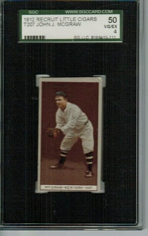 1912 Recruit T207 John McGraw SGC graded 4