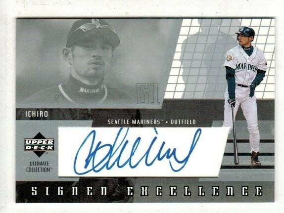 2002 Upper Deck Signed Excellence Ichiro Suzuki signed card