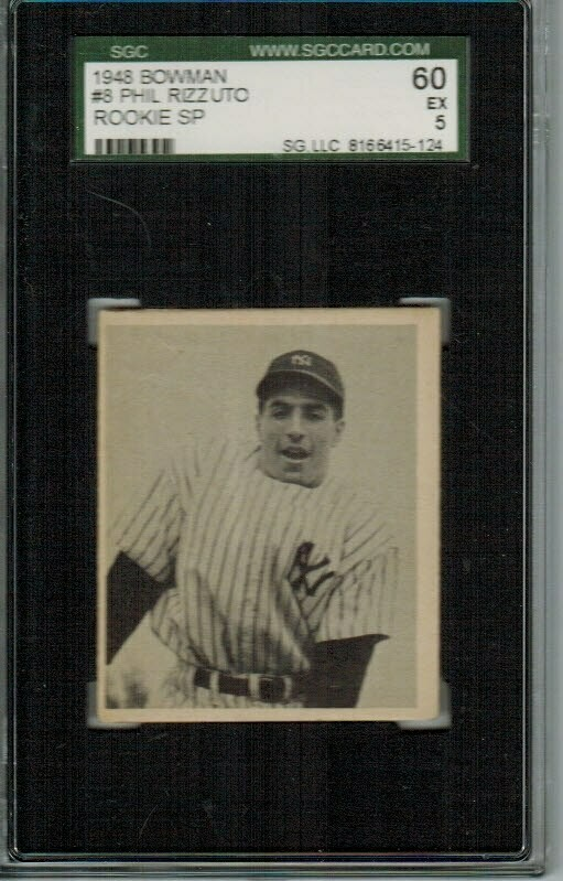 1948 Bowman #8 Phil Rizzuto rookie SGC graded 5