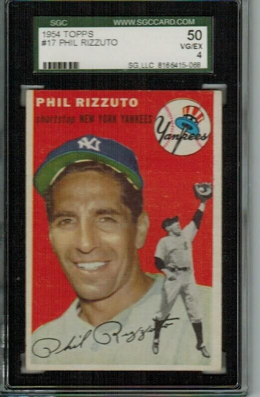 1954 Topps #17 Phil Rizzuto SGC graded 4