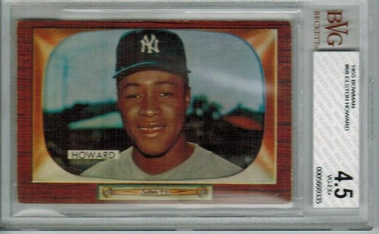 1955 Bowman #68 Elston Howard rookie Beckett  graded 4.5