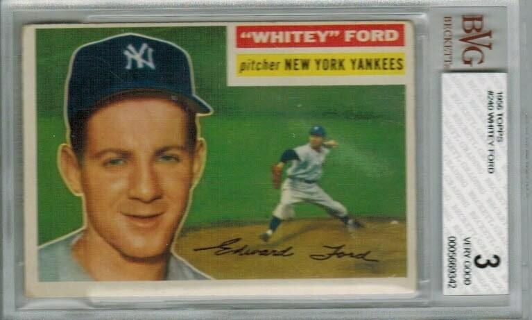 1956 Topps #240 Whitey Ford Beckett graded 3