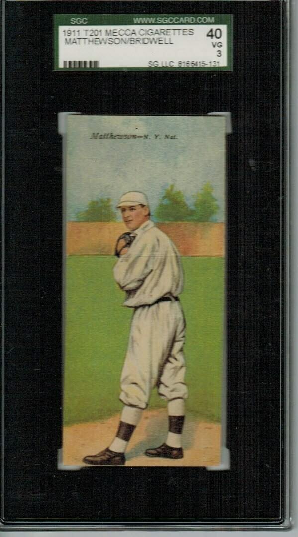 1911 T201 Mecca Double Fold Christie Mathewson SGC graded 3