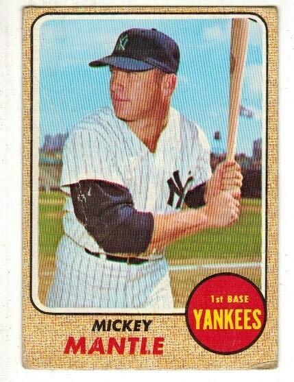 1968 Topps #280 Mickey Mantle lesser grade list $400