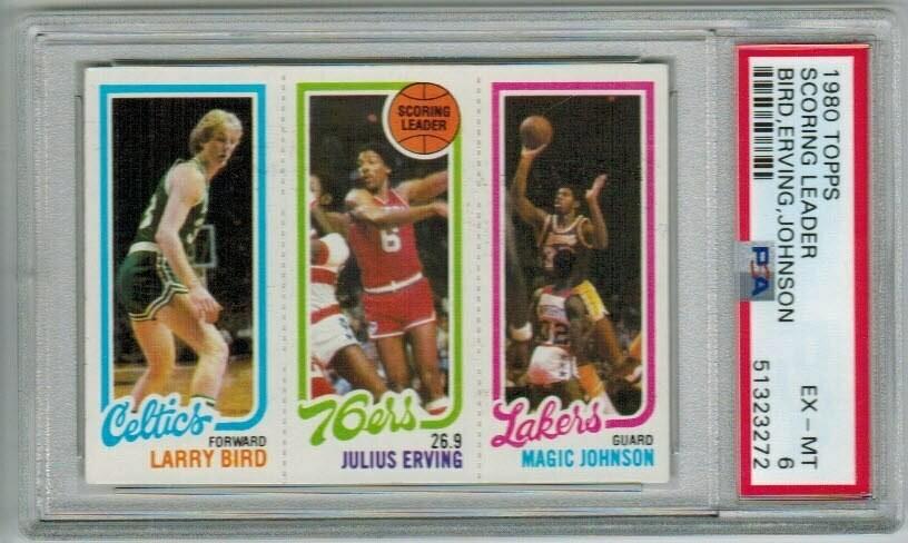 1980 Topps Larry Bird/Magic Johnson rookie Good Centering..PSA 6
