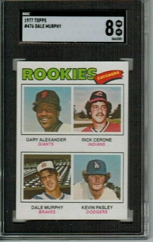 1977 Topps Dale Murphy rookie SGC 8