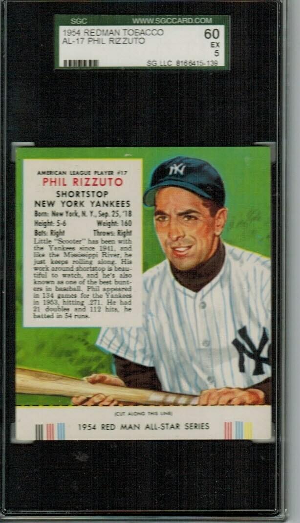 1954 Red Man Tobacco #AL17 Phil Rizzuto SG 5