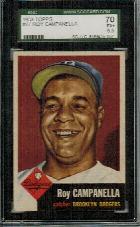 1953 Topps #27 Roy Campanella SGC 5.5