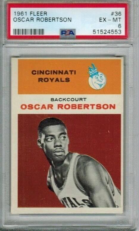 1961/62 Fleer #36 Oscar Robertson PSA 6