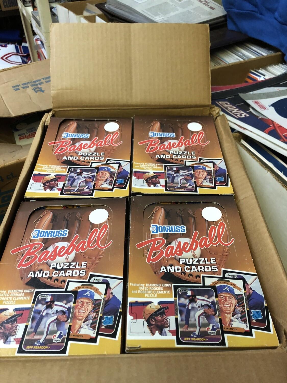 1987 Donruss 20 Box Wax Case