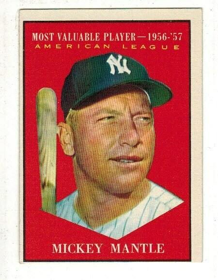1961 Topps #475 Mickey Mantle MVP, List $250