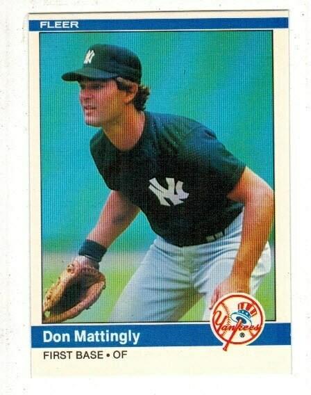 1984 Fleer Don Mattingly rookie