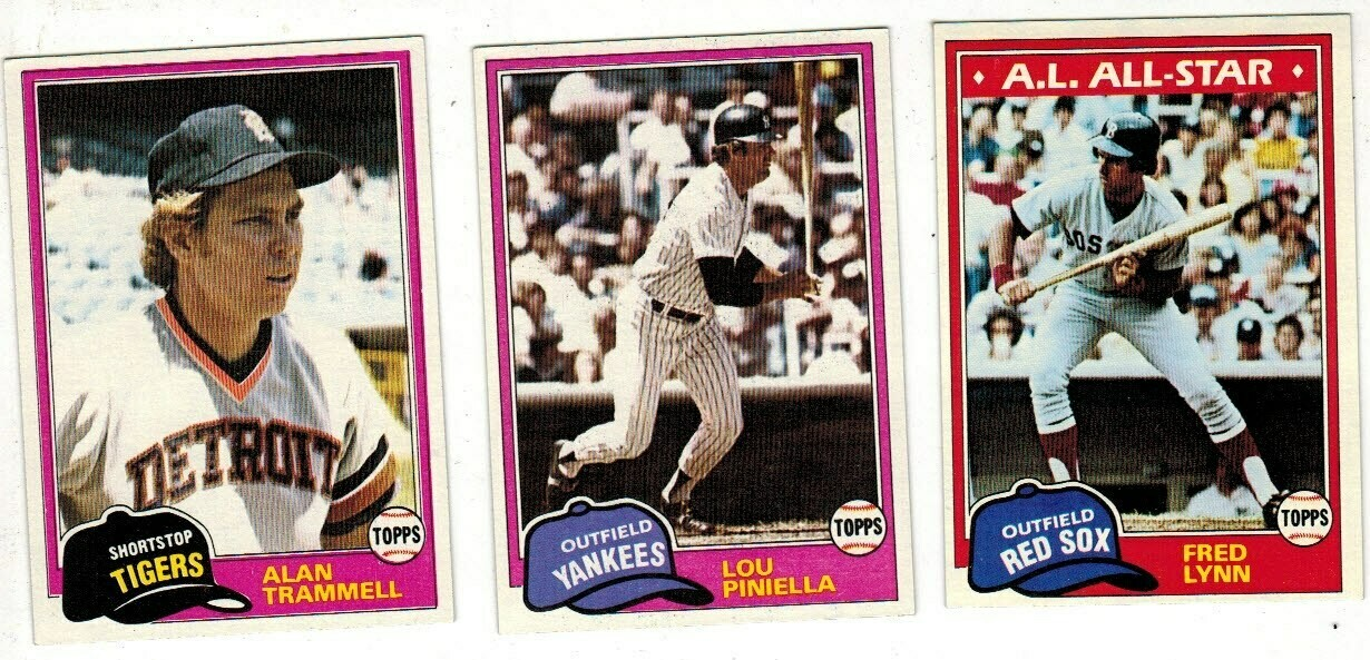 1981 Topps Baseball Complete set Ex/Mint or better
