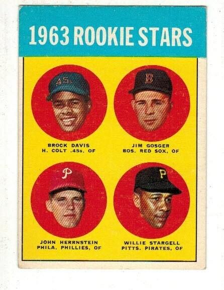 1963 Topps #553 Willie Stargell rookie Ex to Ex+