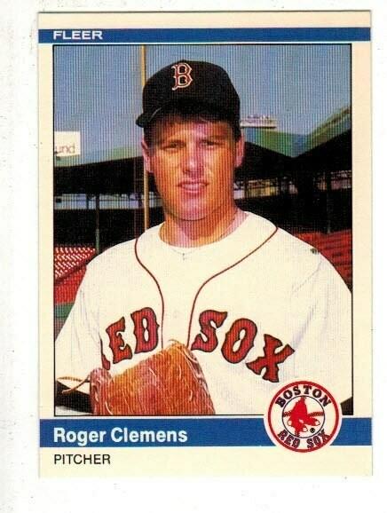 1984 Fleer Update Roger Clemens rookie