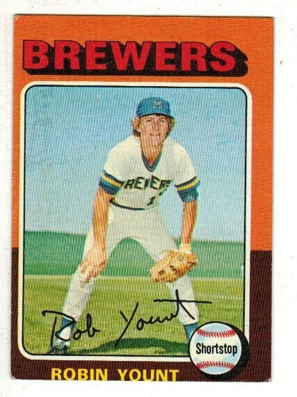 1975 Topps #223 Robin Yount rookie Off center