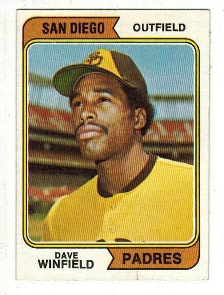 1974 Topps #456 Dave Winfield rookie Ex/Mint