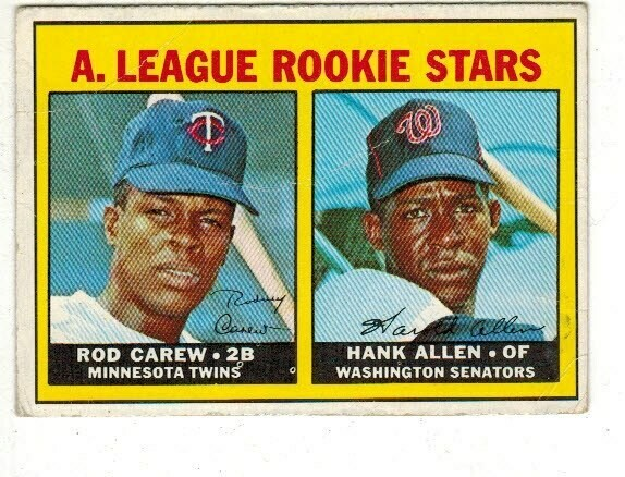 1967 Topps #569 Rod Carew rookie VG-  List $500
