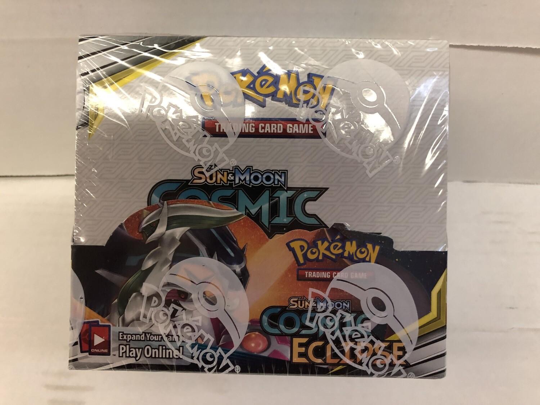 2019 Pokemon Cosmic Eclipse Booster Box 36 packs Mint