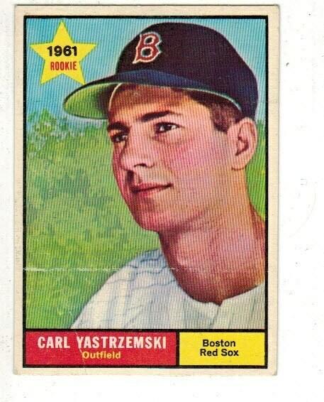 1961 Topps #287 Carl Yastrzemski list $150