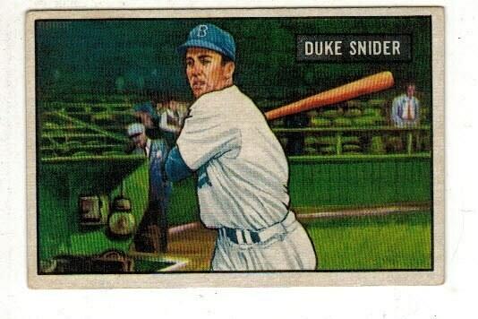 1951 Bowman #32 Duke Snider list $250