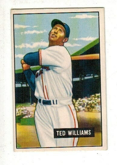 1951 Bowman Ted Williams list $600