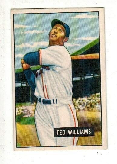 1951 Bowman Ted Williams list $600