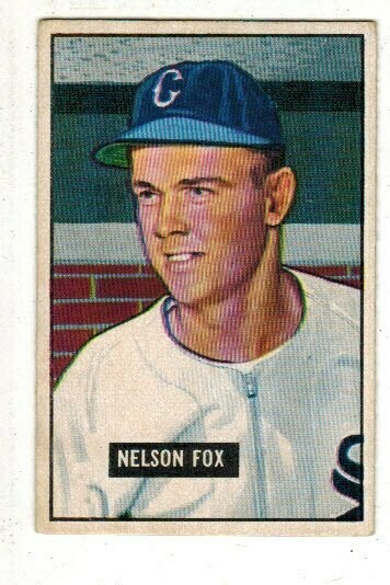1951 Bowman #232 Nellie Fox rookie list $300195