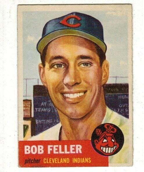 1953 Topps #54 Bob Feller list $250