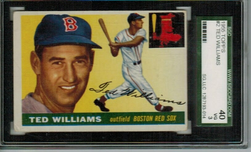 1955 Topps #2 Ted Williams SGC 3 list $800