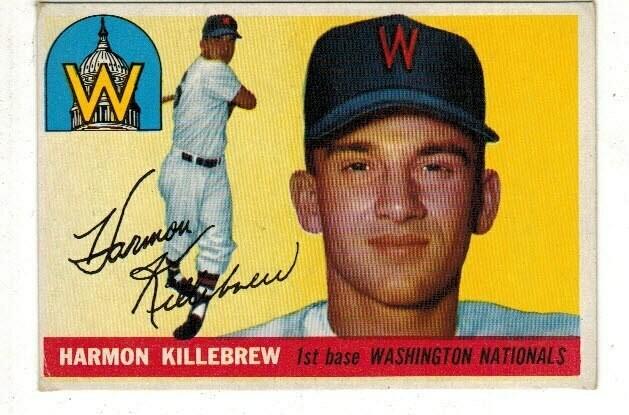 1955 Topps #124 Harmon Killebrew rookie list $500