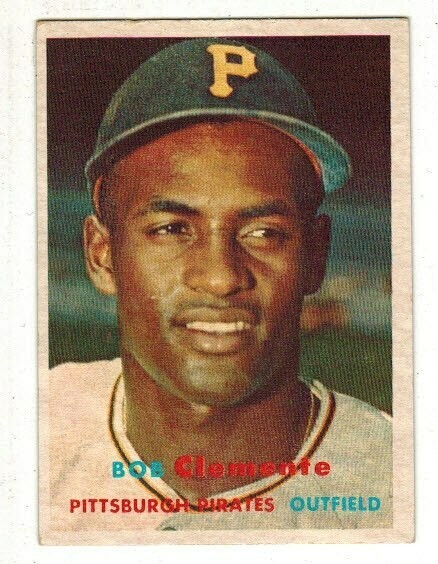 1957 Topps #76 Roberto Clemente list $300