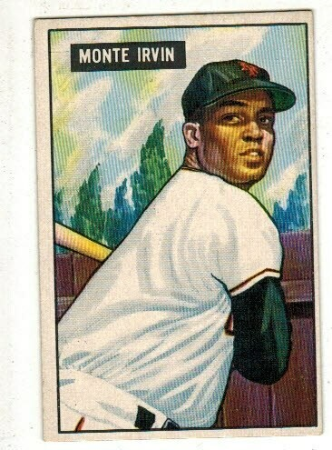 1951 Bowman #198 Monte Irvin rookie list $250