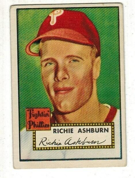 1952 Topps #216 Richie Ashburn list $250