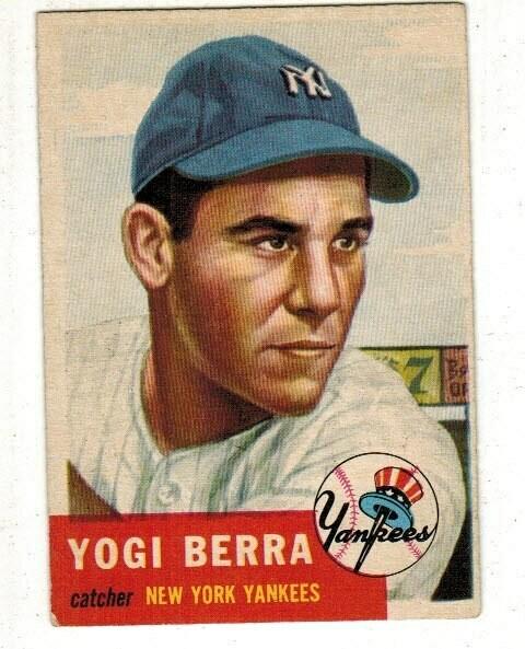 1953 Topps #104 Yogi Berra list $500