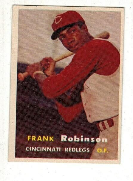 1957 Topps #35 Frank Robinson rookie list $600