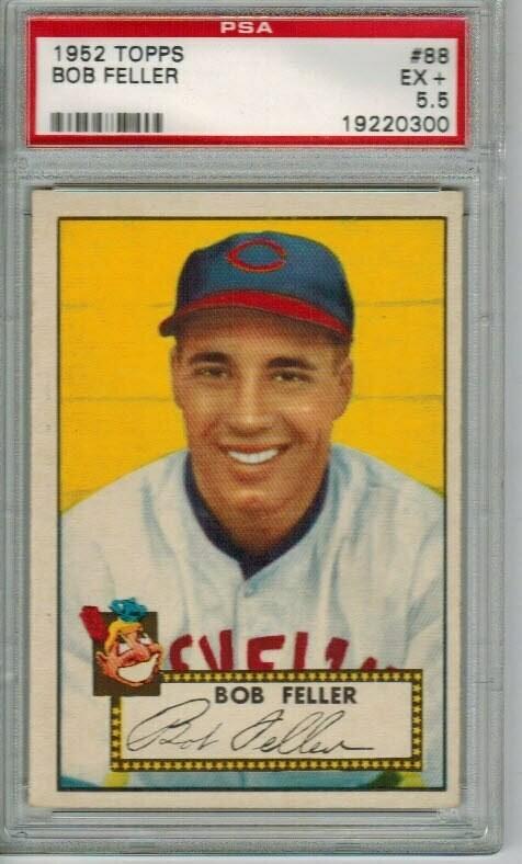 1952 Topps #88 Bob Feller PSA 5.5
