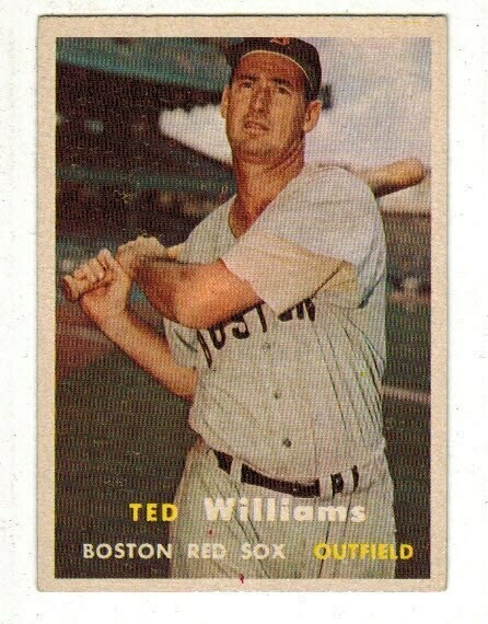 1957 Topps #1 Ted Williams list $400