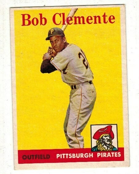 1958 Topps #52 Roberto Clemente list $300