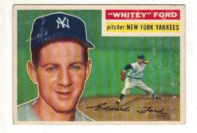 1956 Topps #240 Whitey Ford list $150