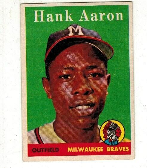 1958 Topps #30 Hank Aaron list $300