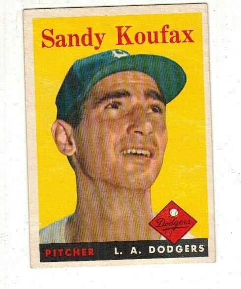1958 Topps #187 Sandy Koufax list $250