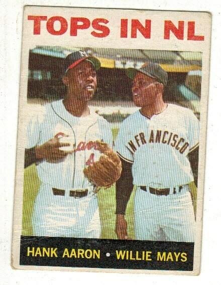 1964 Tops in NL Aaron Mays list $100