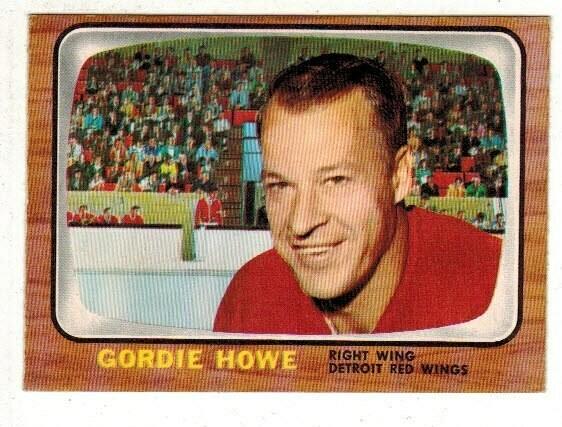 1966/67 Topps #109 Gordie Howe Sharp