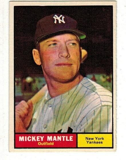 1961 Topps #300 Mickey Mantle Sharp Corners