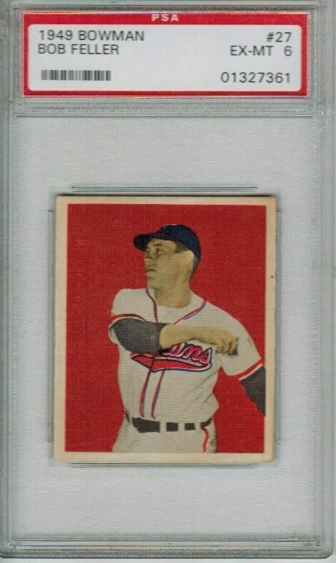 1949 Bowman #27 Bob Feller PSA 6