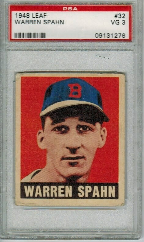 1948 Leaf #32 Warren Spahn PSA 3